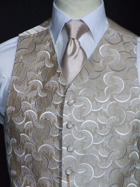 Attire, Cairo Coffee Wedding Waistcoat Large. May be worn with a cravat or tie.