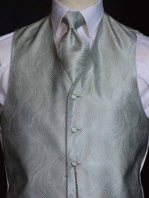 Attire, Forest Green Wedding Waistcoat Large. May be worn with a cravat or tie.
