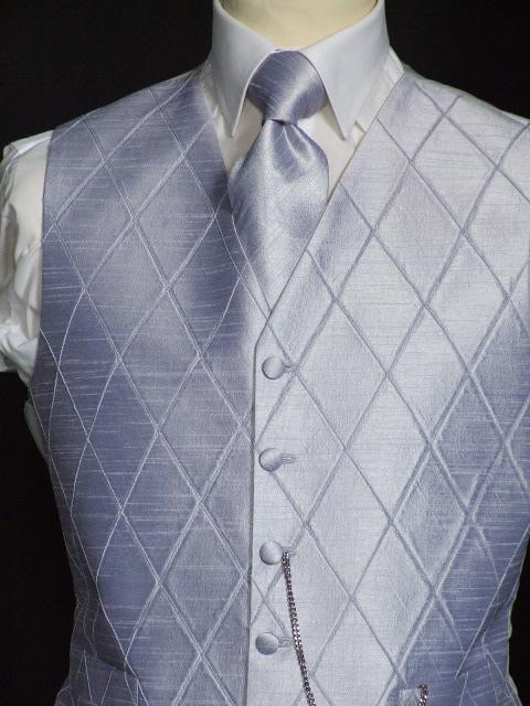 Attire, Steel Zinc Wedding Waistcoat Large. May be worn with a cravat or tie.