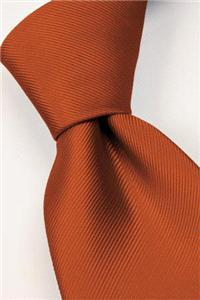 Attire. Orange tie. Connexion ties are hand finished to the highest quality and are 100% silk. Detai