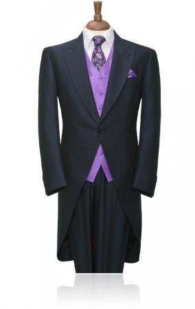 Attire, Wilvorst Navy Prestige Morning Tailcoat with Matching Trouser. Wedding packages include a tw