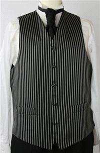 Attire. Black And White Stripe Waistcoat