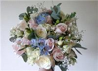 Flowers. _Something Blue_ bouquet. Wedding packages available.