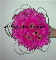 Flowers. Bride's gerbera bouquet with diamante detail. Wedding packages available.