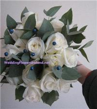 Flowers. Blue and White bouquet. Wedding packages available.