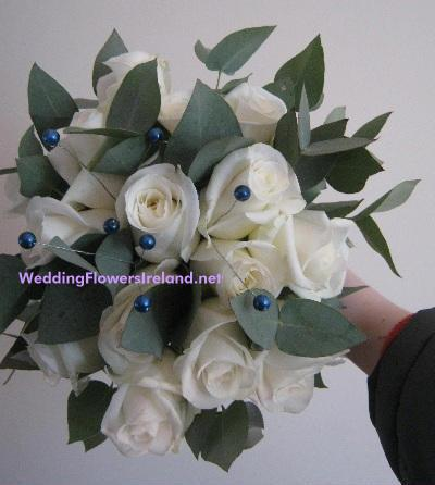 Flowers, Blue and White bouquet. Wedding packages available.