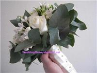 Flowers. Satin-Wrap bouquet. Wedding packages available.