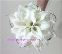 Flowers. Calla hand-tier bouquet. Wedding packages available.