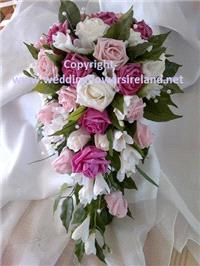 Flowers. Bride's mixed pink bouquet. Wedding packages available.