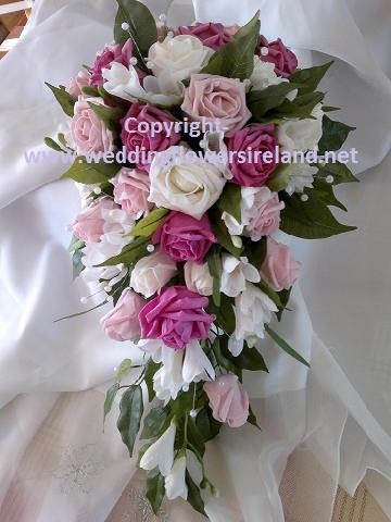 Flowers, Bride's mixed pink bouquet. Wedding packages available.
