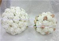 Flowers. Ivory bride and bridesmaid set. Wedding packages available.