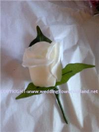 Flowers. Ivory buttonhole. Wedding packages available.