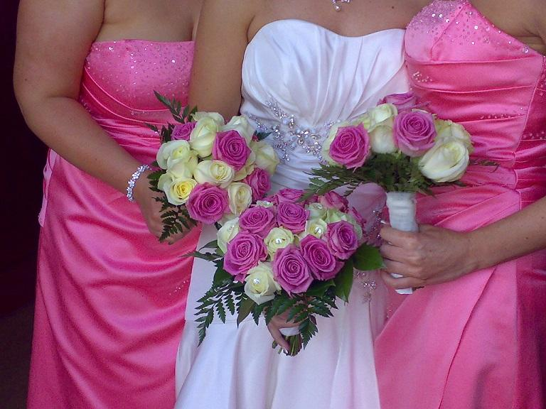 Flowers, Hand-tied rose bouquets. Wedding packages available.