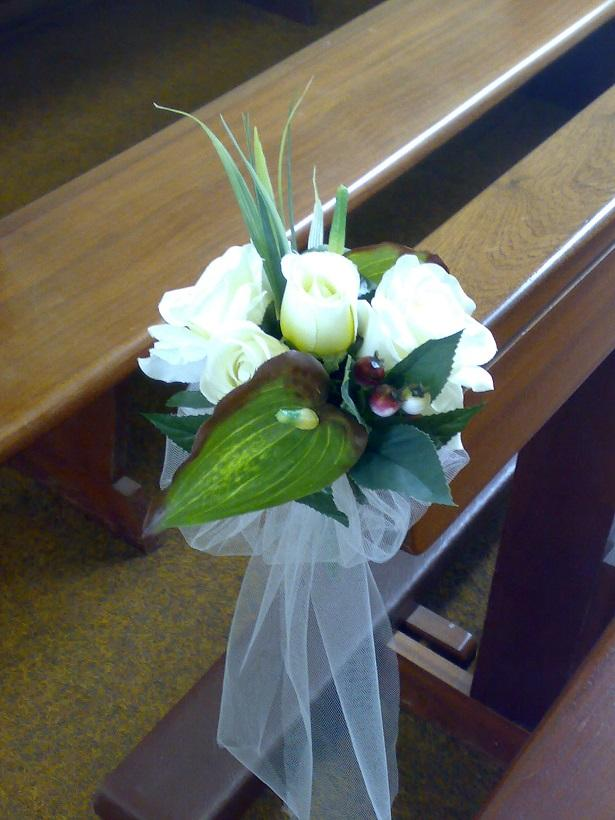 Flowers, Pew flowers. Wedding packages available.
