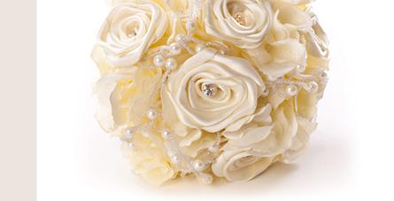 Flowers, Rose & Pearl Bridesmaids Bouquet. Simple rose and pearl bouquet, with diamante in rose cent