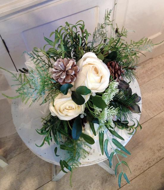 Flowers, Bridal bouquet (Forest Floor). Supplier of wedding flowers and silk arrangements.