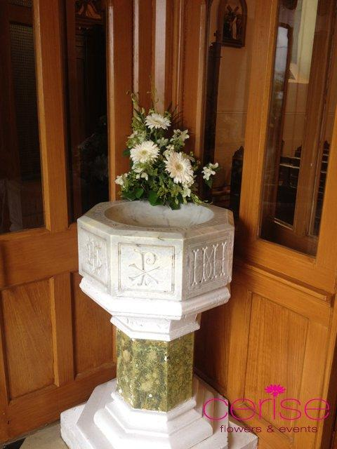 Flowers, Church flower arrangement. Services provided: wedding flowers, chaircovers, table centrepie