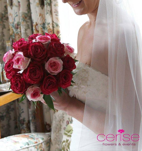 Flowers, Bride bouquet. Services provided: wedding flowers, chaircovers, table centrepieces, cake fl