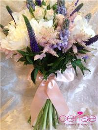 Flowers. Bridesmaid bouquet. Services provided: wedding flowers, chaircovers, table centrepieces, ca
