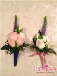 Flowers. Buttonhole flowers. Services provided: wedding flowers, chaircovers, table centrepieces, ca
