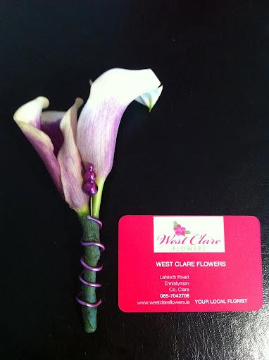 Flowers, Calla Lily buttonhole. Flowers directly imported from Holland to ensure that only the fresh