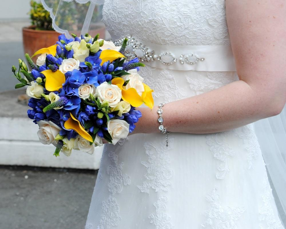Flowers, Bridal bouquet. Large range of fresh cut flowers and plants available.