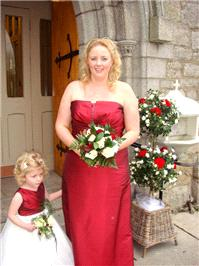 Flowers. Bridesmaid and flower girl bouquets. Large range of fresh cut flowers and plants available.