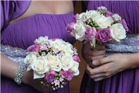 Flowers. Bridesmaid bouquets. Large range of fresh cut flowers and plants available.