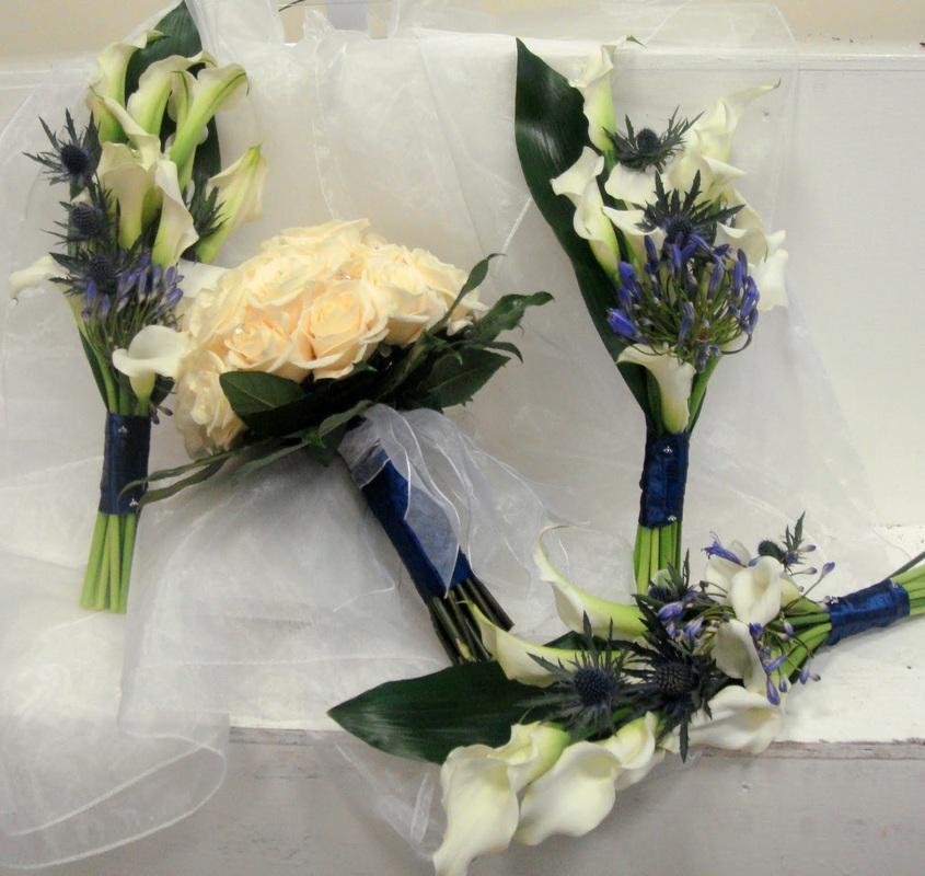 Flowers, Bride and bridesmaids bouquet. Large range of fresh cut flowers and plants available.