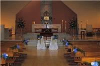 Flowers. Church flowers (pew ends, chairs, candelabras and altar flower arrangements). Large range o