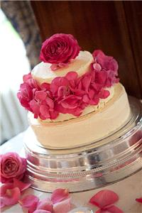 Flowers. Wedding cake petal decoration. Large range of fresh cut flowers and plants available.