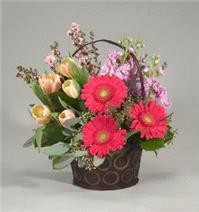 Flowers. Gerbera Delight Basket.