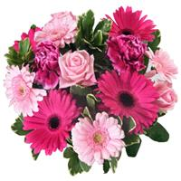 Flowers. Colour Of Cerise Bouquet. A vibrant, fresh bouquet of pink & cerise flowers.