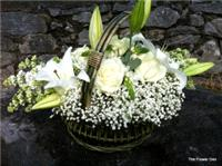 Flowers. Traditional Flower Basket. A modern classic basket arrangement.