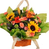 Flowers. Happy Times Hand Tie. Mixed bouquet.
