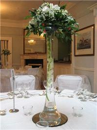 Flowers. Wedding venue table centre piece. Personalised wedding packages available.