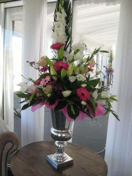 Flowers, Wedding venue flower arrangement. Personalised wedding packages available.