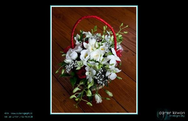 Flowers, Basket flower arrangement. Personalised wedding packages available.