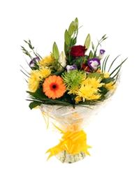Flowers. Golden Moments. Classic collection of lilies, roses and a selection of seasonal blooms.