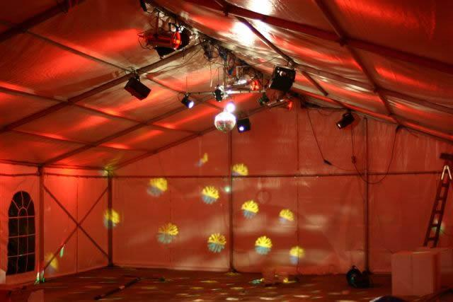 PA System For Speeches, Lights suitable for speeches and dance floor.