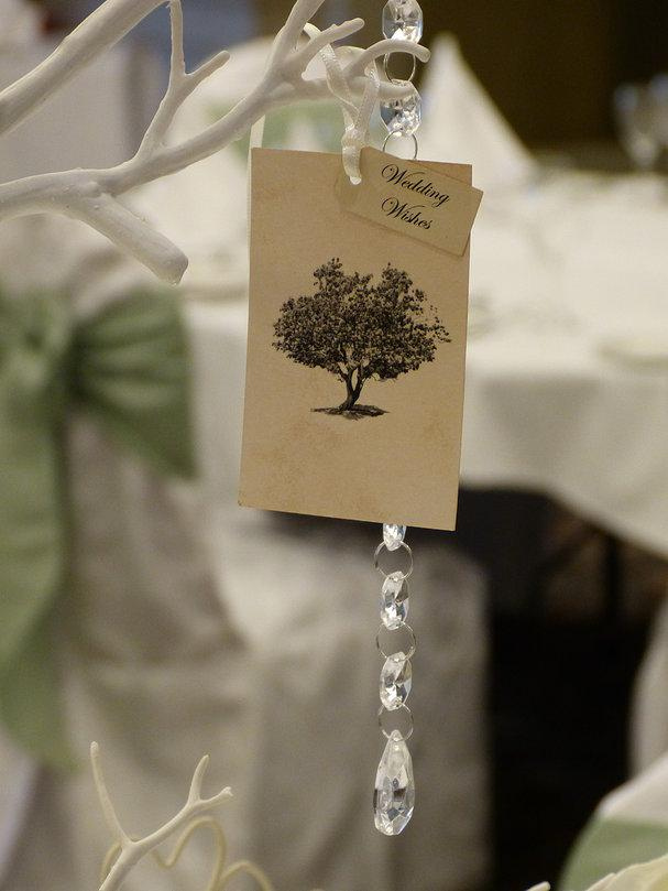 The WOW Factor, Guests write their wishes for the bride and groom and place them on a wishing tree.