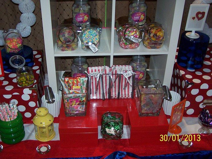 The WOW Factor, A stall of candy for guests at the reception.