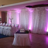 Decor & Event Styling. Pink mood lighting with fairy lights.