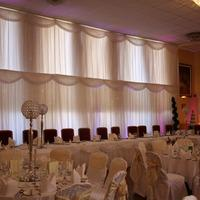 Decor & Event Styling. Draped fabric in an traditional style.