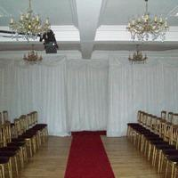 Decor & Event Styling. Plain white back drop.