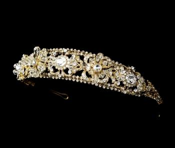 Jewellery, Edel. A stunning gold design woven in Swarovski crystals and rhinestones. Width 26.7 cm ,
