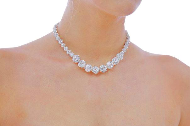 Jewellery, Graduated Starlight. Graduated Swarovski crystals necklace with 6mm, 8mm & 12mm balls. St