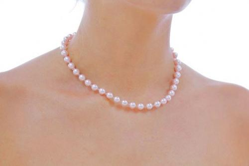 Jewellery, The Grace. Delicate 8mm Swarovski pearl necklace with glass seedbead separating each pear
