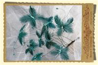 Jewellery. Blue Butterfly Hair Comb. Suitable for mother of the bride or any occasion.