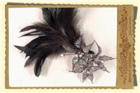 Jewellery. Flowers and Feathers. Beaded flowers with feathers.